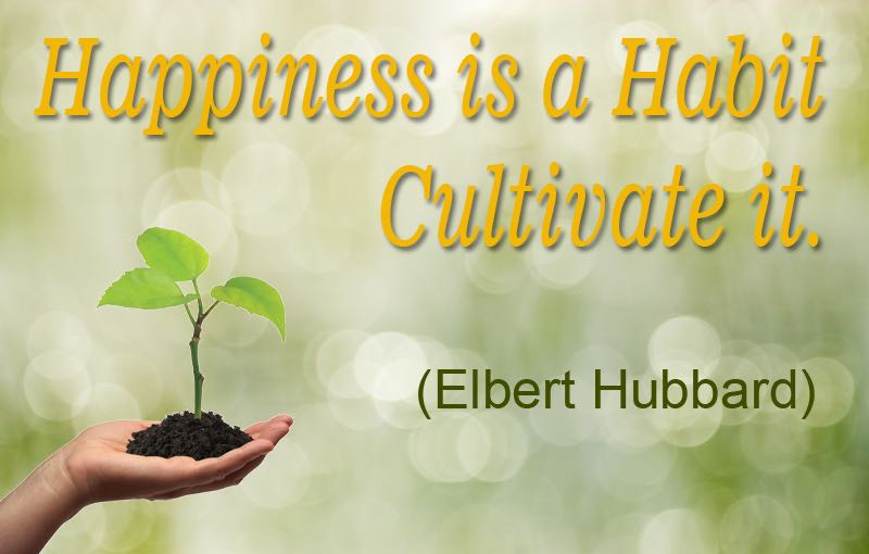 Happiness is a habit cultivate it Elbert Hubbard