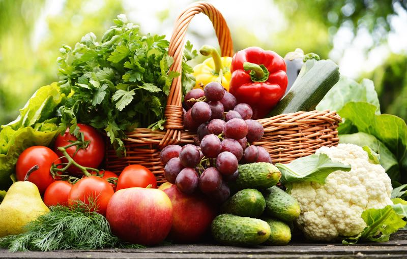 Fresh fruit and vegetables provide all the vitamins and minerals need for good health